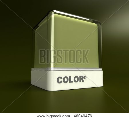 Design block in a army green color