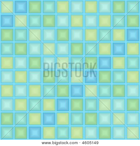 Blue tile pattern. Seamless vector tiled pattern poster