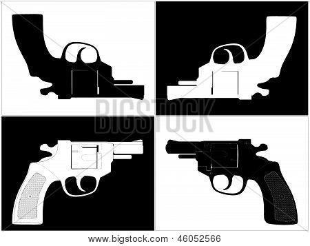 Pistol Revolver Vector 05.eps