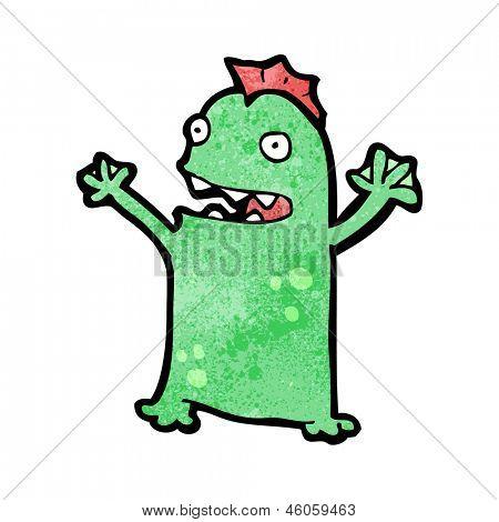 cartoon swamp monster poster