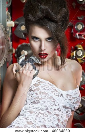 Sexy Women With Red Lips
