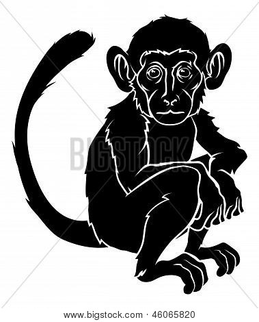 Stylised Monkey Illustration