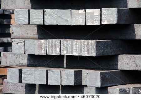 Steel Ingot In Enterprise Warehouse Workshop
