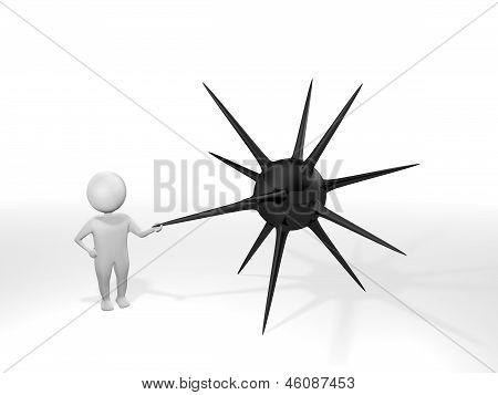 3D Man - Mine - Black
