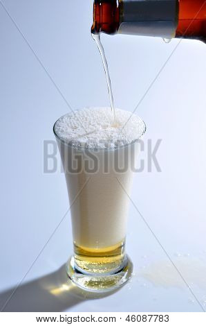 Pour The Beer Into A Glass