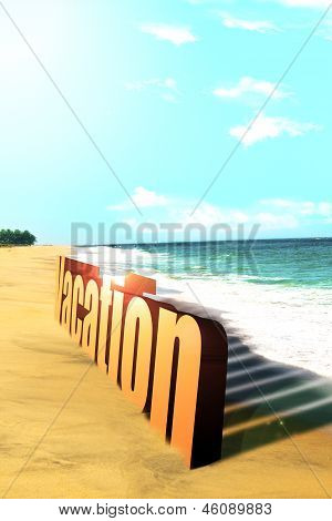 Lovely summer vacation on the beach