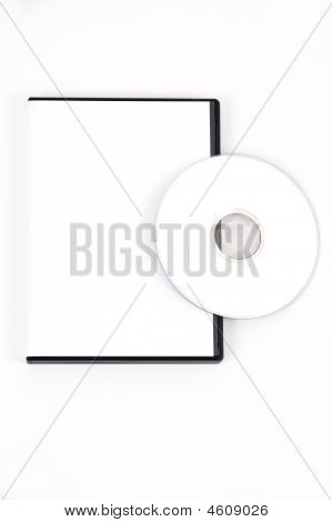 White Dvd Leaning On Case