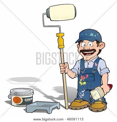 Handyman - Paint Roll Painter Blue