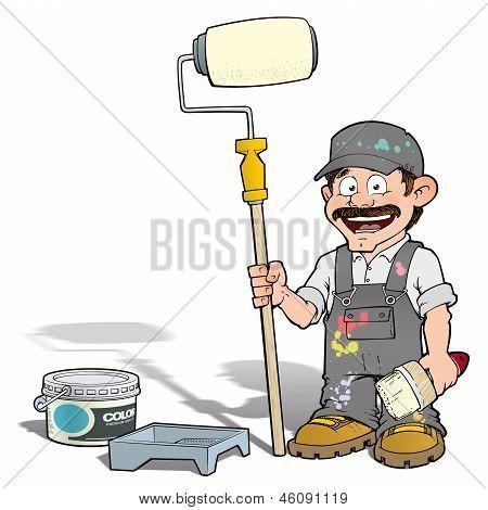 Handyman - Paint Roll Painter Gray