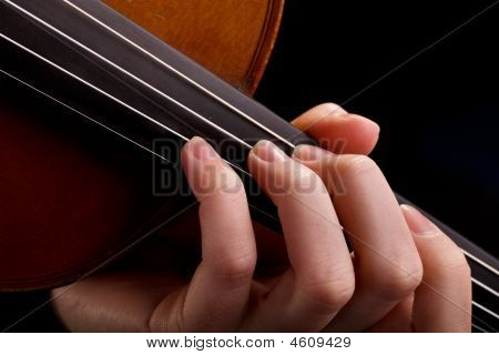 Violin Background And Fingers