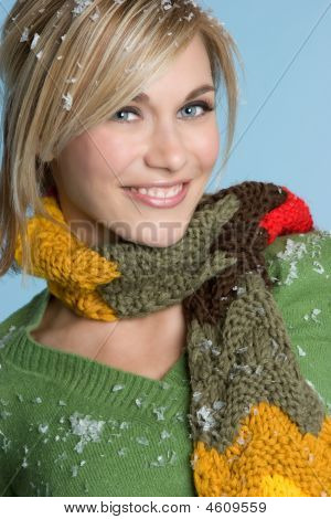 Blonde Winter Fashion Lady