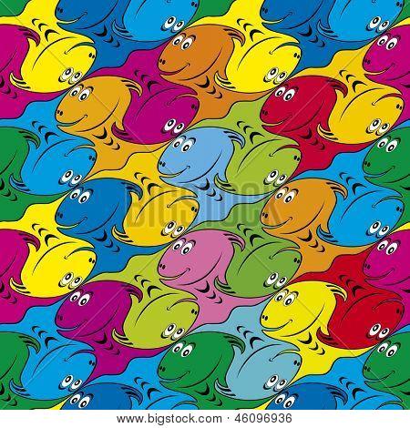 Tessellated Comic Dinosaur Character Seamless Pattern