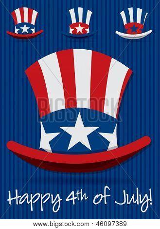 Patriotic Uncle Sam hat set in vector format. poster