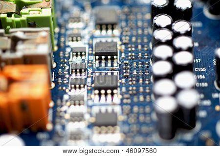 Close up technology parts