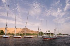 Boats At Aswan