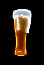 Neon Beer Sign Isolated