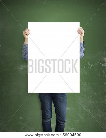 Hipster Holding Placard