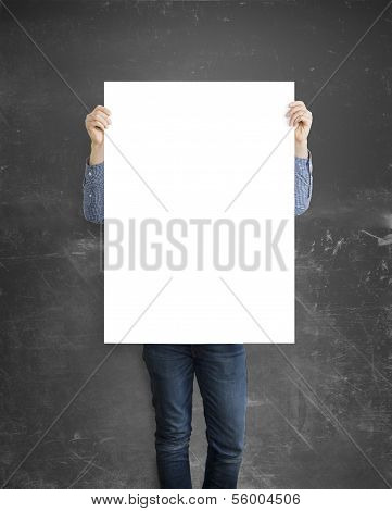 Hipster Holding Paper