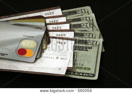 Karten, Schecks, & Cash