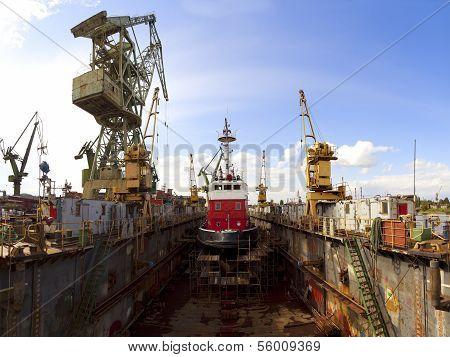 Fireboat In Dock