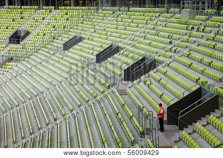 Seating Of Stadium Pge Arena In Gdansk