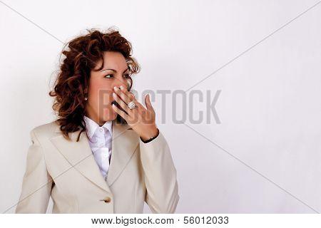 Sleepless businesswoman