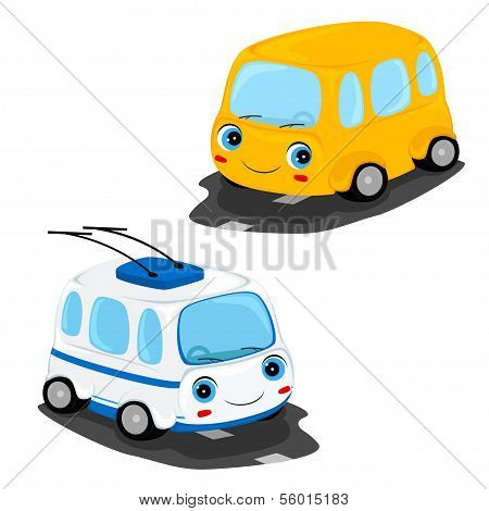 Bus And Trolley Bus