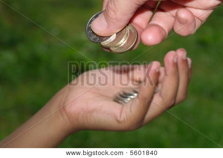 giving coins