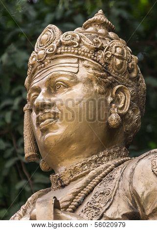 Head Of Sri Basavanna On Bengaluru Statue.