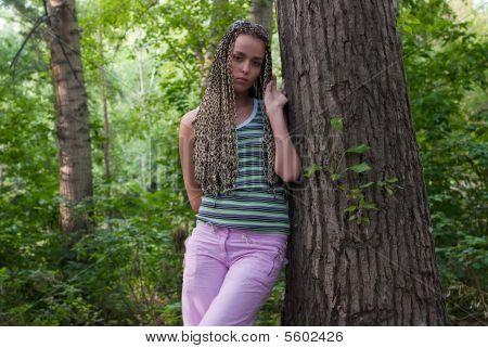 Girl In Poplar Forest