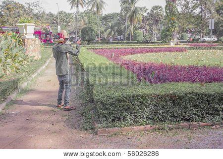 Workers Gardening