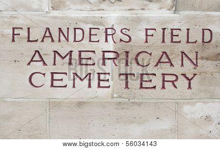 American cemetery Flanders field Belgium Waregem world war poster