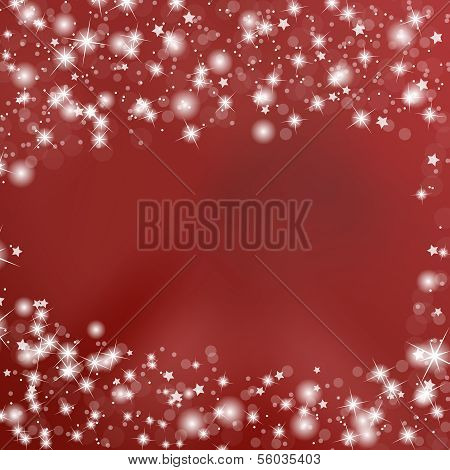 Red Background with Stars