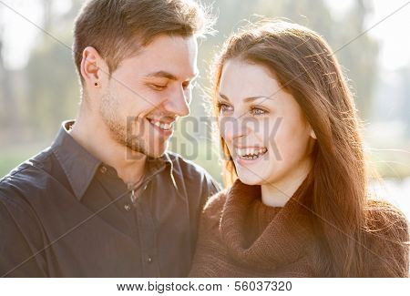 Young Couple Laughing