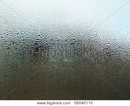 Fogged Up Glass With Drop Of Water