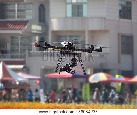 Unmanned Aerial Vehicle With A Digital Camera