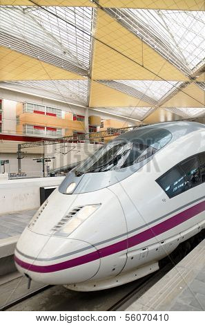 AVE High speed train at Zaragoza Delicias station