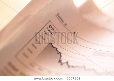 Falling Stock Index