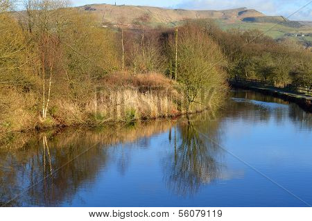 Hudderfield Narrow Canal in Friezland Oldham
