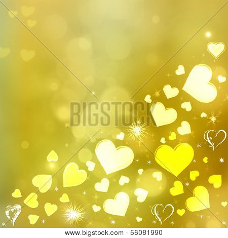 Valentine Hearts Abstract  Background. St.Valentine's Day Wallpaper. Heart Holiday Backdrop