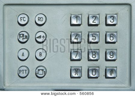 Public Telephone Keyboard