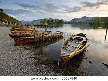Boote am Derwent water