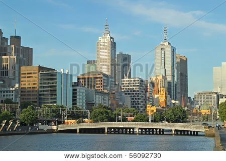 Melbourne, Yarra River skyline