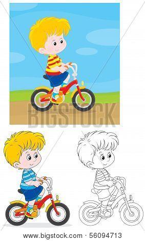 Boy bicyclist