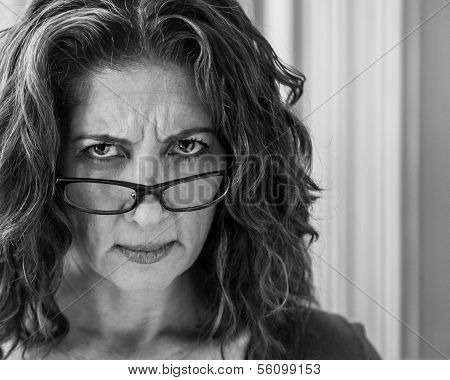 Angry Middle Aged Woman