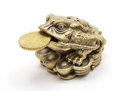 Netsuke Toad With Coin