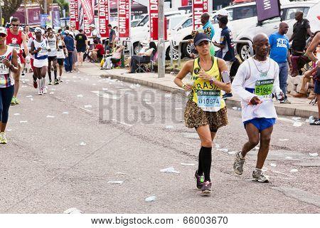 Brazilian Female Runner At Comrades Ultra Marathon