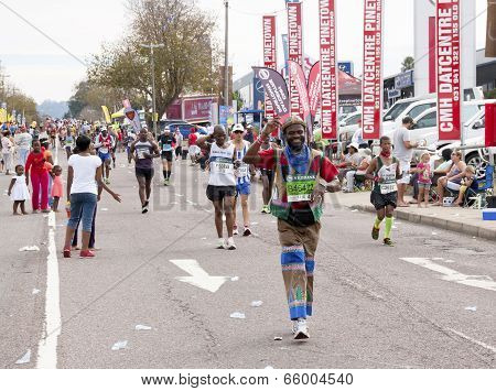 Traditionaly Decorated Runner In Comrades Ultra Marathon