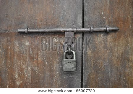 Old Rusty Padlock And Hasp