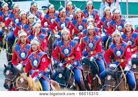 Riders At Nadaam Opening Ceremony